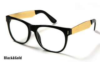 New Black&Gold Frame Wayfarer Eye glasses Choi Daniel KPOP Women Men 4