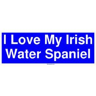 I Love My Irish Water Spaniel Large Bumper Sticker