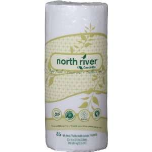 North River kitchen roll towel, perforated, 2 ply, 85 sheets/roll, 30
