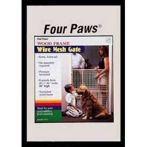 Extra Tall Wood Frame Dog Gate 29.5 50 Inch W by 44 Inch H Pet