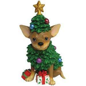 Aye Chihuahua Christmas Tree Figurine