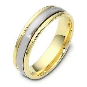 Karat Two Tone Gold Designer SPINNING Wedding Band Ring   625 Jewelry