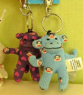 New PAUL FRANK Julius Sock Monkey Keychain in Fuchsia