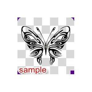 TRIBAL TRIBAL BUTTERFLY 21 10 WHITE VINYL DECAL STICKER