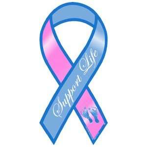 Support Life Awareness Mini Ribbon Magnet Automotive