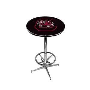University of South Carolina Pub Table   Black   Black Pedestal   42