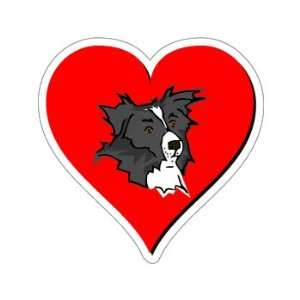 Border Collie Love   Window Bumper Sticker Automotive
