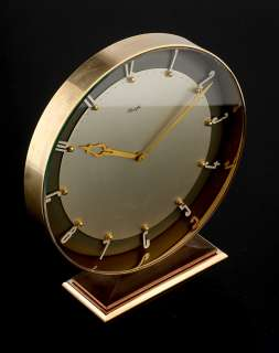ART DECO BAUHAUS KIENZLE TABLE DESK CLOCK HEINRICH MOELLER DESIGN