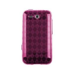 TPU Gel Skin Phone Protector Cover Case Hot Pink Checker