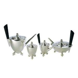 Art Deco Style 4pc Sterling Silver Tea Set