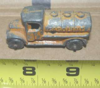 Tootsie toy, orange Mack truck tanker