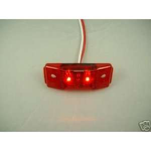 Red LED 2.5 Truck Trailer Clearance Side Marker Light / Red