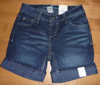 Girls Adjustable Waist Denim ARIZONA SHORTS Size 7 8 10 12 Jean Black
