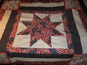 PATRIOTIC TRIBUTE to our AMERICAN FLAG Star Quilt Top