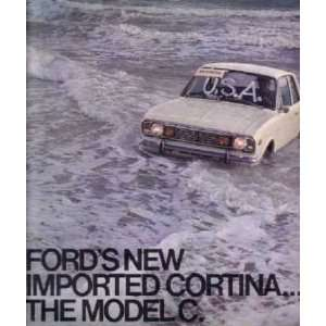1968 FORD CORTINA Sales Brochure Literature Book Piece