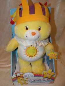 Care Bear Singing King Funshine Bear NEW