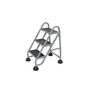 Stop Step Aluminum Ladder, 3 Step,gry   STOP STEP