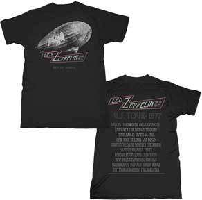 LED ZEPPELIN   T Shirt   CITIES   U.S. Tour 77   S M LG XL 2XL   NEW