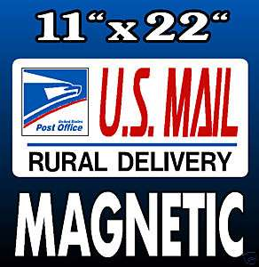 Mail Delivery Magnetic USPS Postal Carrier 11 x 22