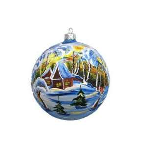 CHRISTMAS TREE ORNAMENT. Winter Evening Ball Ornament