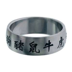 Inox Jewelry Rings 316L Stainless Steel Chinese Symbols