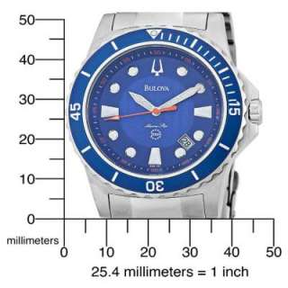 Bulova 98B130 Mens Marine Star Blue Dial Bracelet Watch