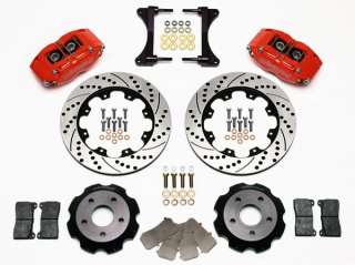 WILWOOD DISC BRAKE KIT,FRONT,99 07 SUBARU IMPREZA,RED,D