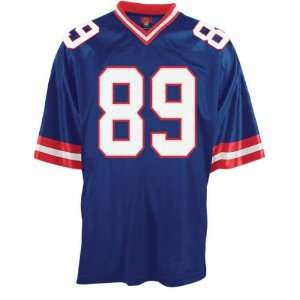 New York Giants Autographed Blue Custom Jersey