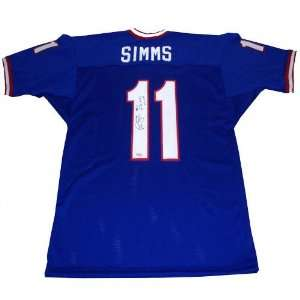 Phil Simms New York Giants Autographed Blue Custom Jersey