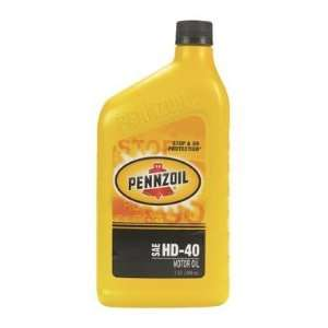 Heavy Duty Motor Oil, HD40 PENNZOIL MOTOR OIL
