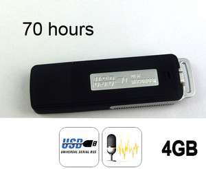4GB USB SPY Pen Digital Audio Voice Recorder 70 Hours recording Black