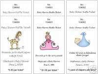 Baby Shower Raffle Tickets/Cards Personalized Favors