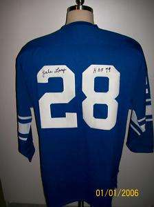 YALE LARY AUTO M&N BLUE DETROIT LIONS THROWBACK JERSEY