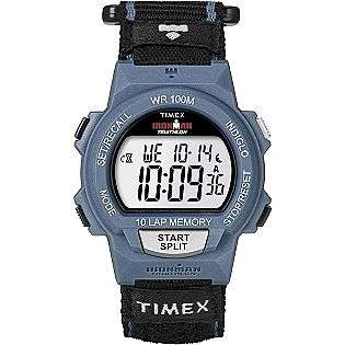 Mens Calendar Day/Date Ironman Watch w/Blue Case, Digital Dial and