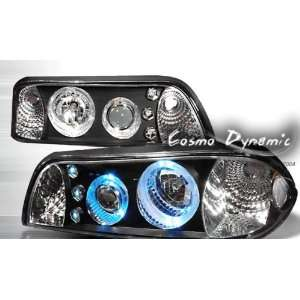 Ford Mustang Headlights Black Halo Pro LED Headlights 1987