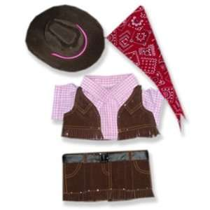 Cowgirl Outfit Teddy Bear Clothes Fit 14   18 Build a bear