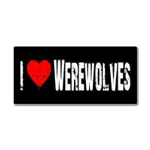 I Love Heart Werewolves   Window Bumper Sticker