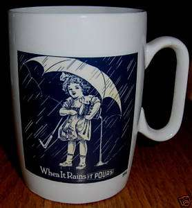 Ceramic Advertising Coffee Mug 1914 Morton Salt NICE