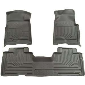 Husky Liners Custom Fit Front and Second Seat Floor Liner Set for Ford