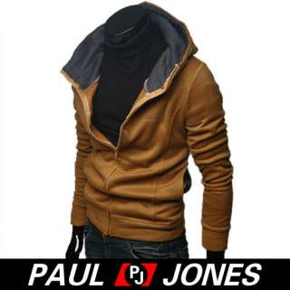 PJ Mens Slim Fit Coats Zip Up Jacket Hoodies Trendy NWT