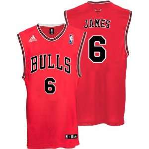 LeBron James Youth Jersey adidas Red Replica #6 Chicago Bulls Jersey