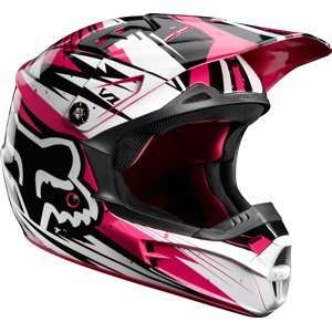 Fox Racing V1 Helmet   Undertow Black/Pink Automotive