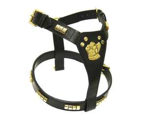 STAFF STAFFORDSHIRE BULL TERRIER LEATHER DOG HARNESS