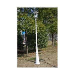 Gama Sonic USA GS 94S WHI Solar Lamp Post Patio, Lawn