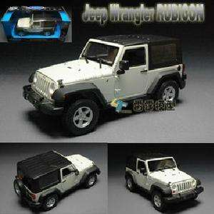 New 124 JEEP Rubicon Alloy Diecast Model Car White B1592