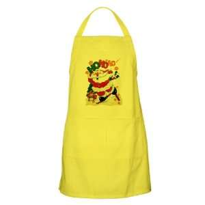 Apron Lemon Merry Christmas Santa Claus Skiing Ho Ho Ho