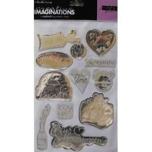 Creative Imaginations 12 Epoxy Stickers ~ Married Arts