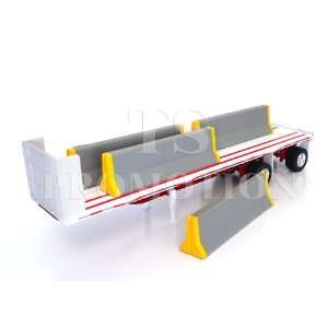 132 scale Flatbed trailer with Jersey dividers Toys