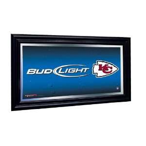 Kansas City Chiefs Bud Light Beer Pub Mirror NFL