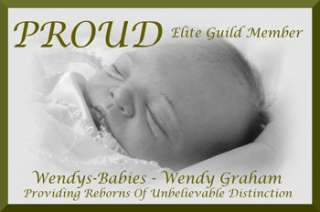 WENDYS BABIES* A BEAUTIFUL TRUE TO LIFE REBORN/ NEWBORN BABY GIRL